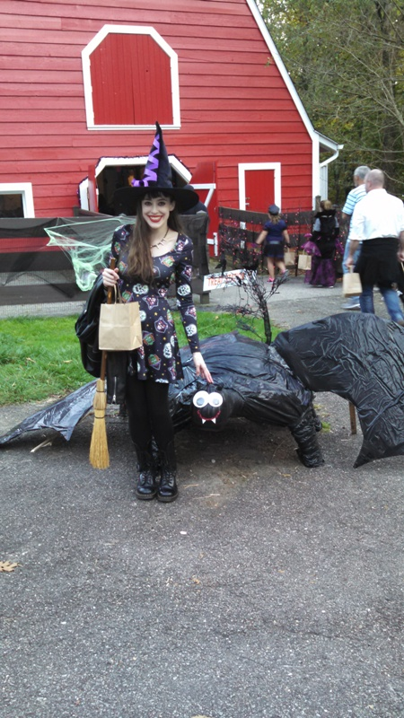 With giant bat